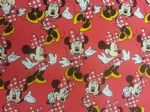 NEW! MINNIE MOUSE PINK - Fabric 100% Cotton - Price Per Metre